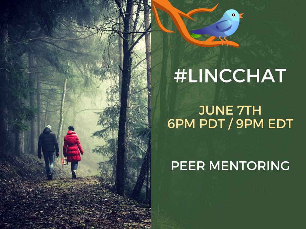 "Today's #LINCchat topic is ""Peer Mentoring"". https://t.co/RmdMfIpQis"