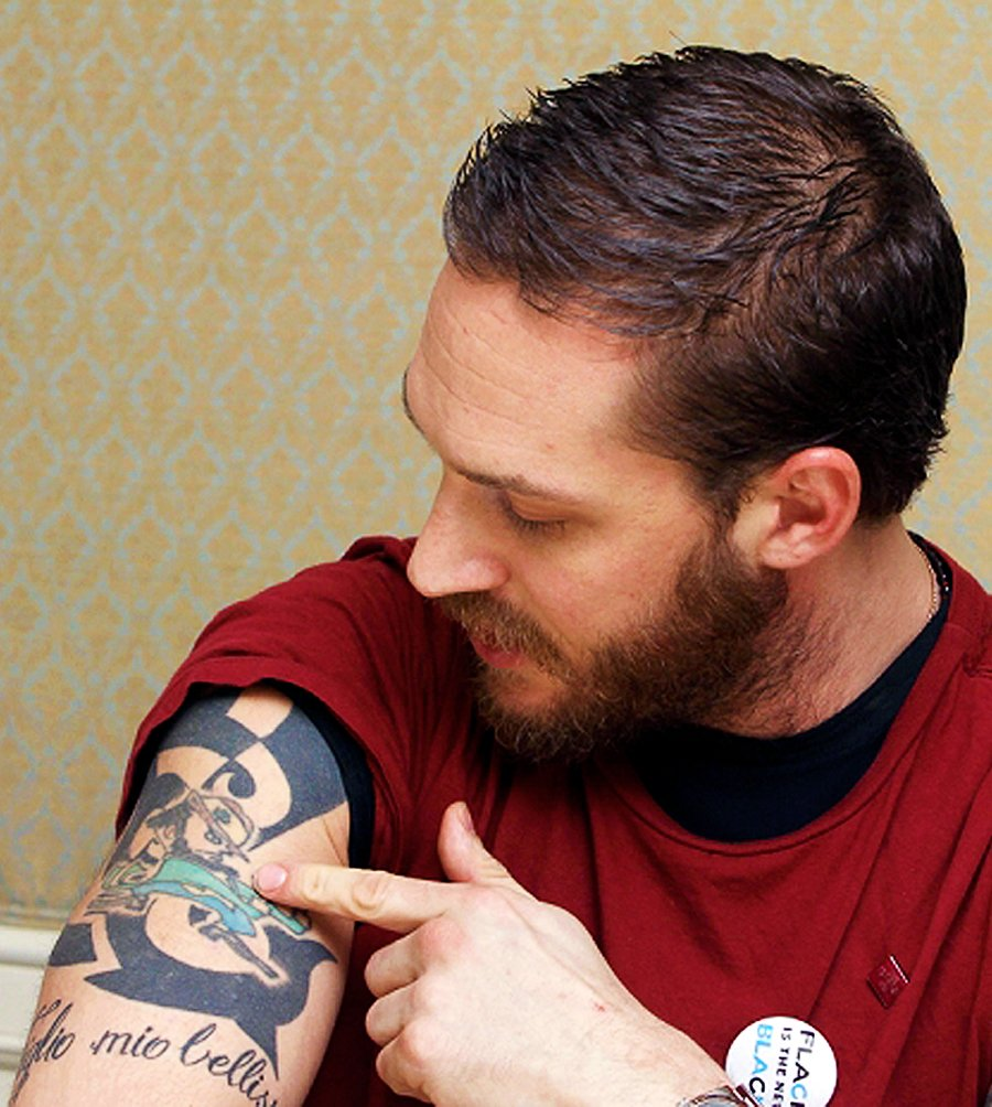 One Foot Down On Twitter Did You Know Tom Hardy S First Tattoo