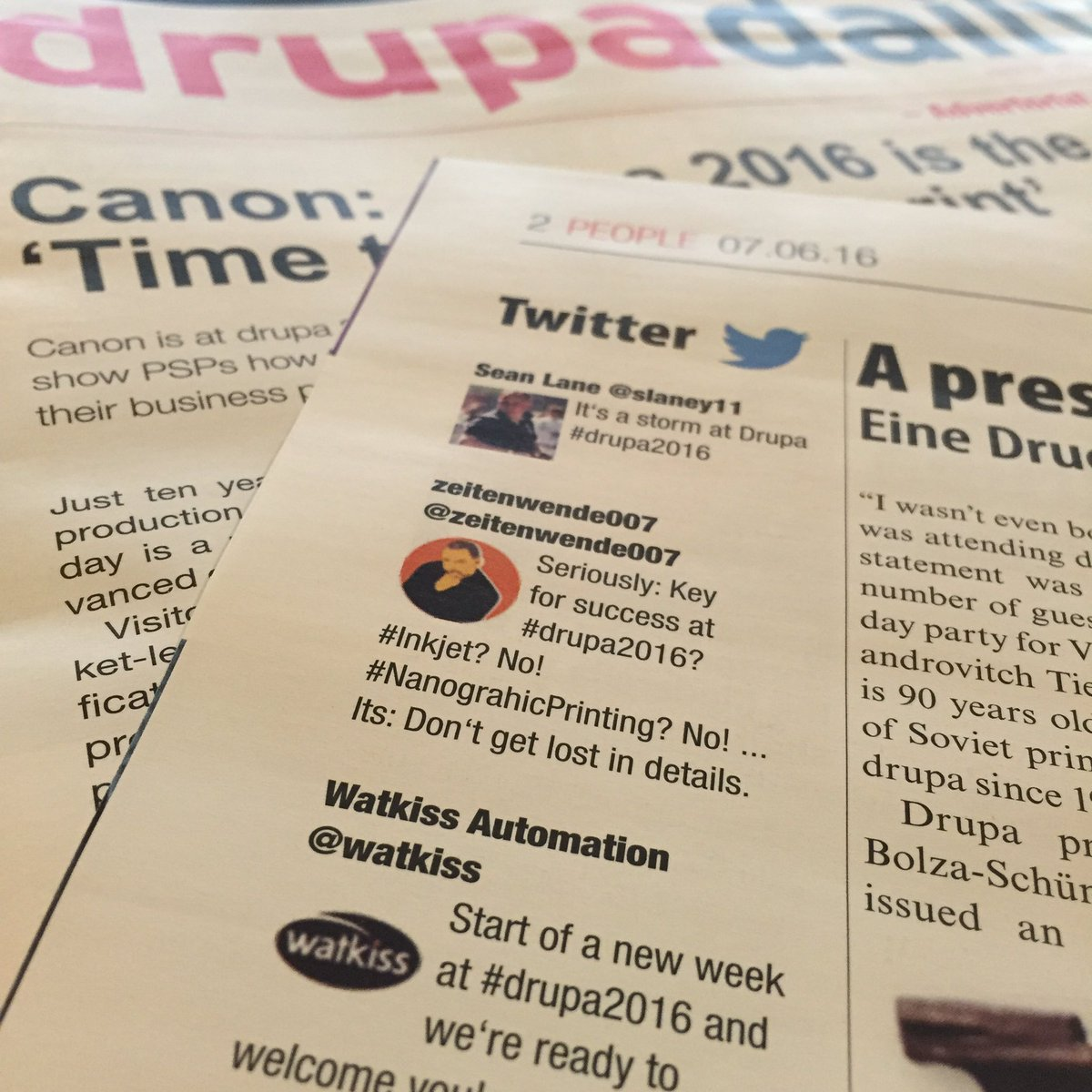 Have you seen that, @zeitenwende007? Your tweet is in the #drupa2016 daily. https://t.co/5Wd84XdLT0