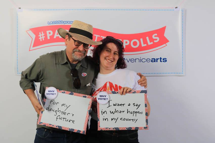 So grateful to everyone who came out to #PartyAtThePolls for #VeniceVotes. See, tag, share:  https://t.co/Lx2mCYkOQL https://t.co/ERG5YqerGI