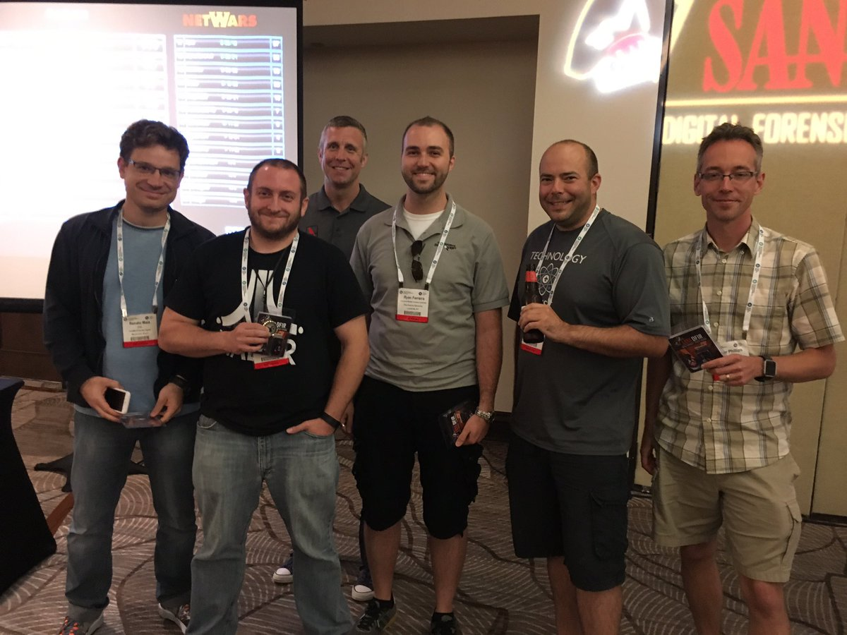 Big congratulations to the @sansforensics DFIR NetWars winners at #TSFIC tonight!!! https://t.co/NphvPjr1Iy