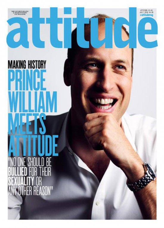 Para combater homofobia, príncipe William ilustra capa de revista gay: https://t.co/nIQYpEAQOx