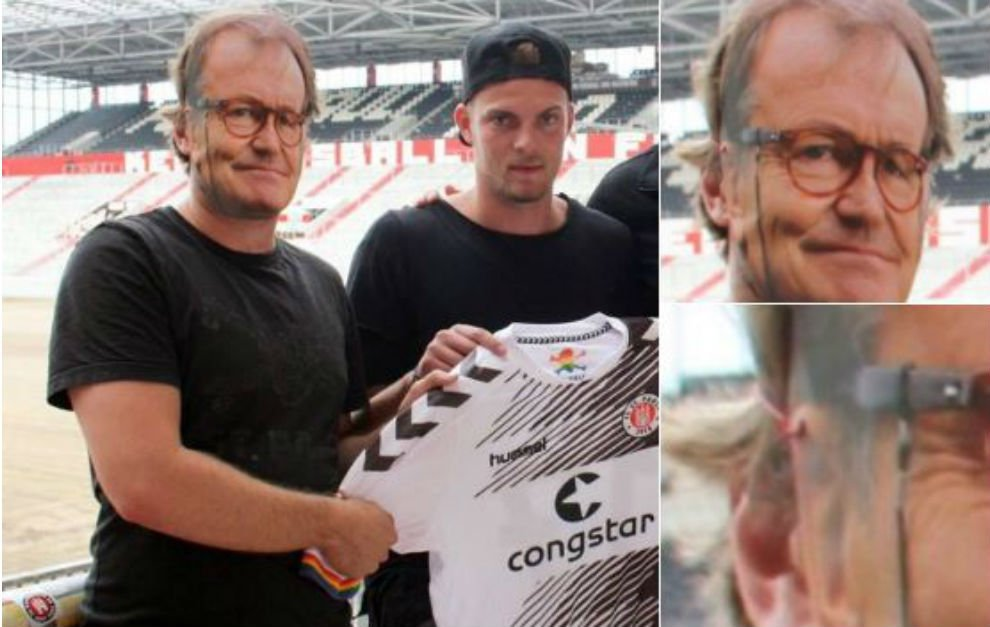 El técnico del St Pauli de Alemania no pudo asistir a la presentación de un fichaje. Lo reemplazaron con una careta https://t.co/al4f8ujrLs
