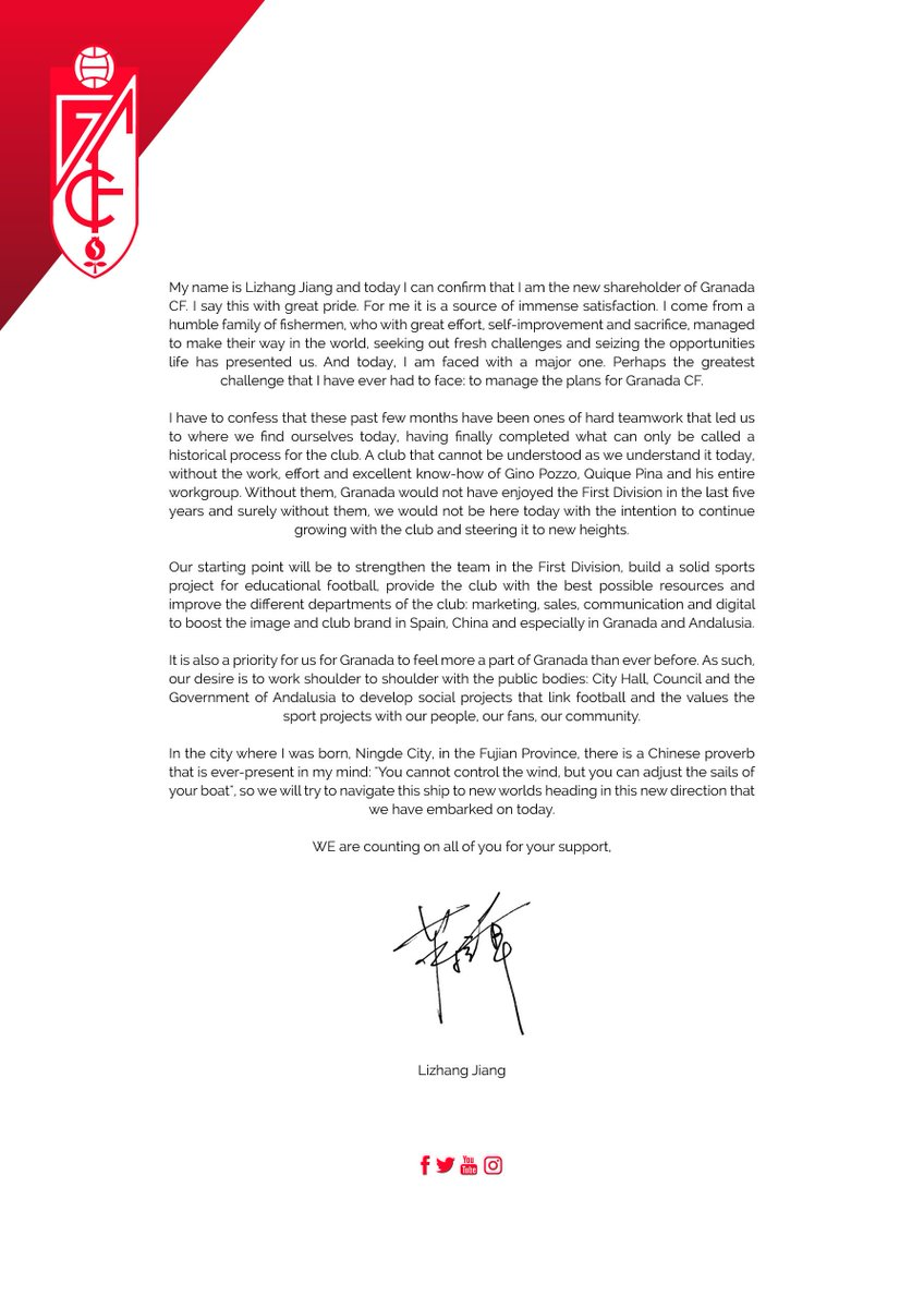 Granada Cf On Twitter Letter From Jiang Lizhang To We Followed The Directions That Came With Fan Controller And Fans