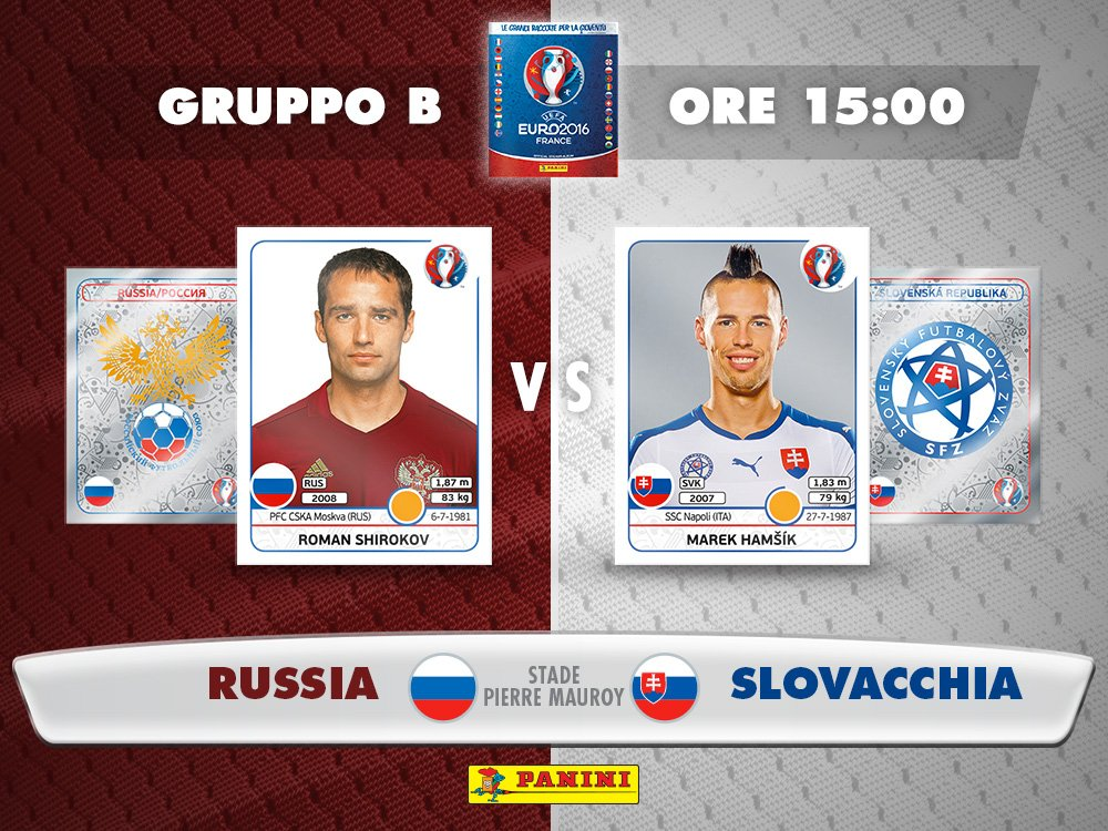 EURO 2016: RUSSIA SLOVACCHIA Diretta Streaming Gratis con SmartPhone iPhone Tablet e PC Rojadirecta
