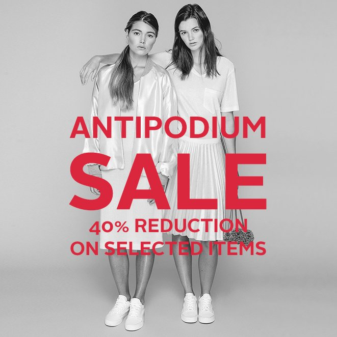 We're on sale! Antipodium Spring Summer Sale - 40% reductions on selected items https://t.co/QFDTCX9N3v https://t.co/50P4Q2mQ9G
