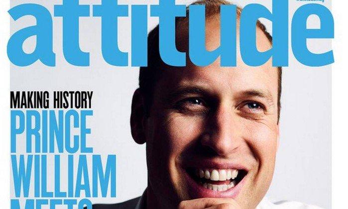 Príncipe William faz apelo contra homofobia em capa de revista gay. https://t.co/gqPtayQGDV