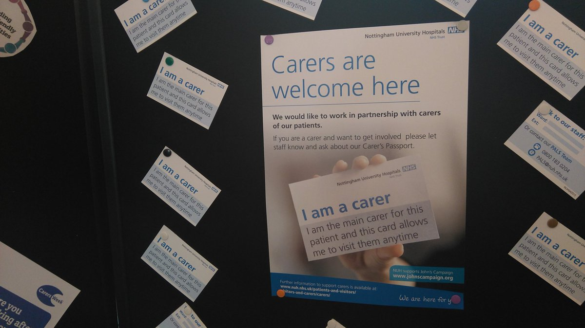Promoting partnership working with @nottmhospitals and the community to support carers #carersweek