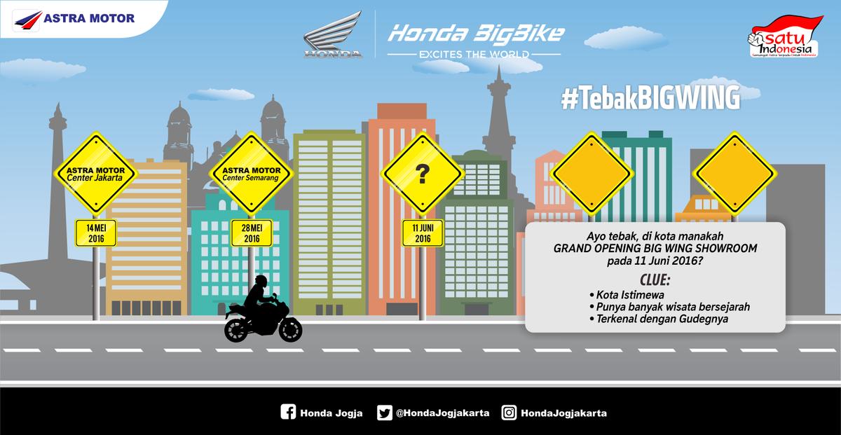 Peserta wajib follow akun media sosial Astra Motor dan retweet #kuis ini !  #LaunchingBigWing https://t.co/pZHq2hVjX8
