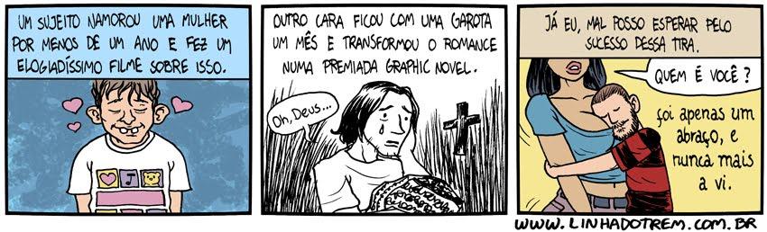 """Quando leio algo sobre """"Retalhos"""", de Craig Thompson, sempre me vem à mente esta preciosa tira de @linhadotrem. https://t.co/7PtjYdBok4"""