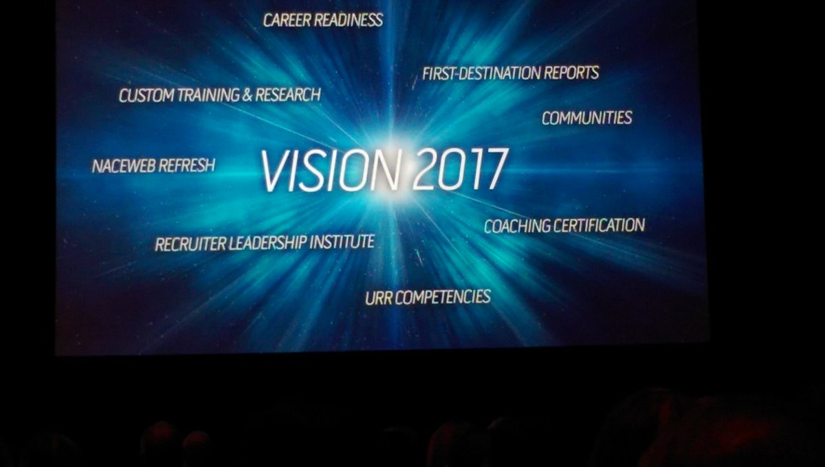 #NACE16 unveils Vision2017 for #career education #TooMuchToChooseFrom #FoodForThought  @RyersonCareer @followCACEE https://t.co/6JuwrNdB8m