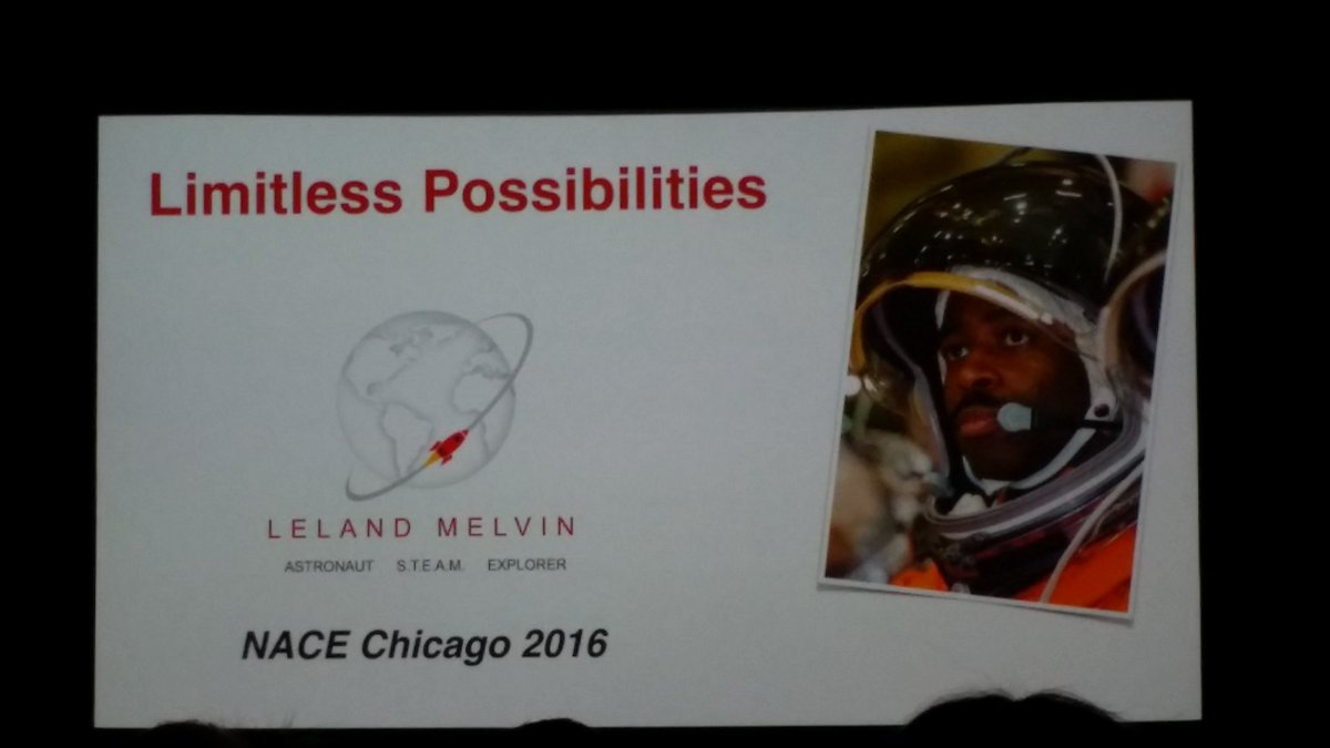 Excited about our next #NACE16 keynote @LelandMelvin #limitlesspossibility https://t.co/mow00HYUDr
