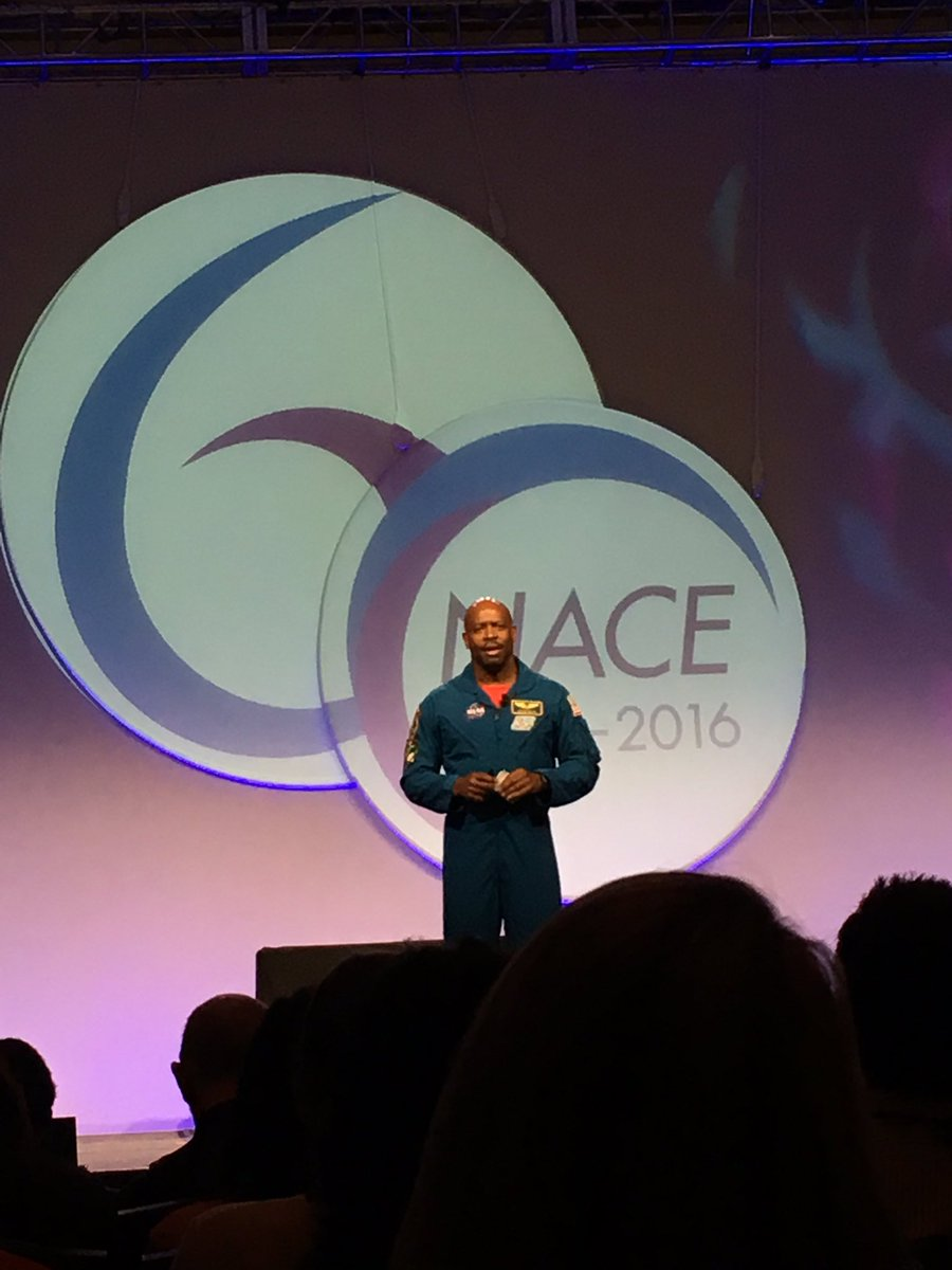 Learning great things from astronaut  Leland Melvin at #NACE16 #LimitlessPossibilities https://t.co/eQ2hCKixob