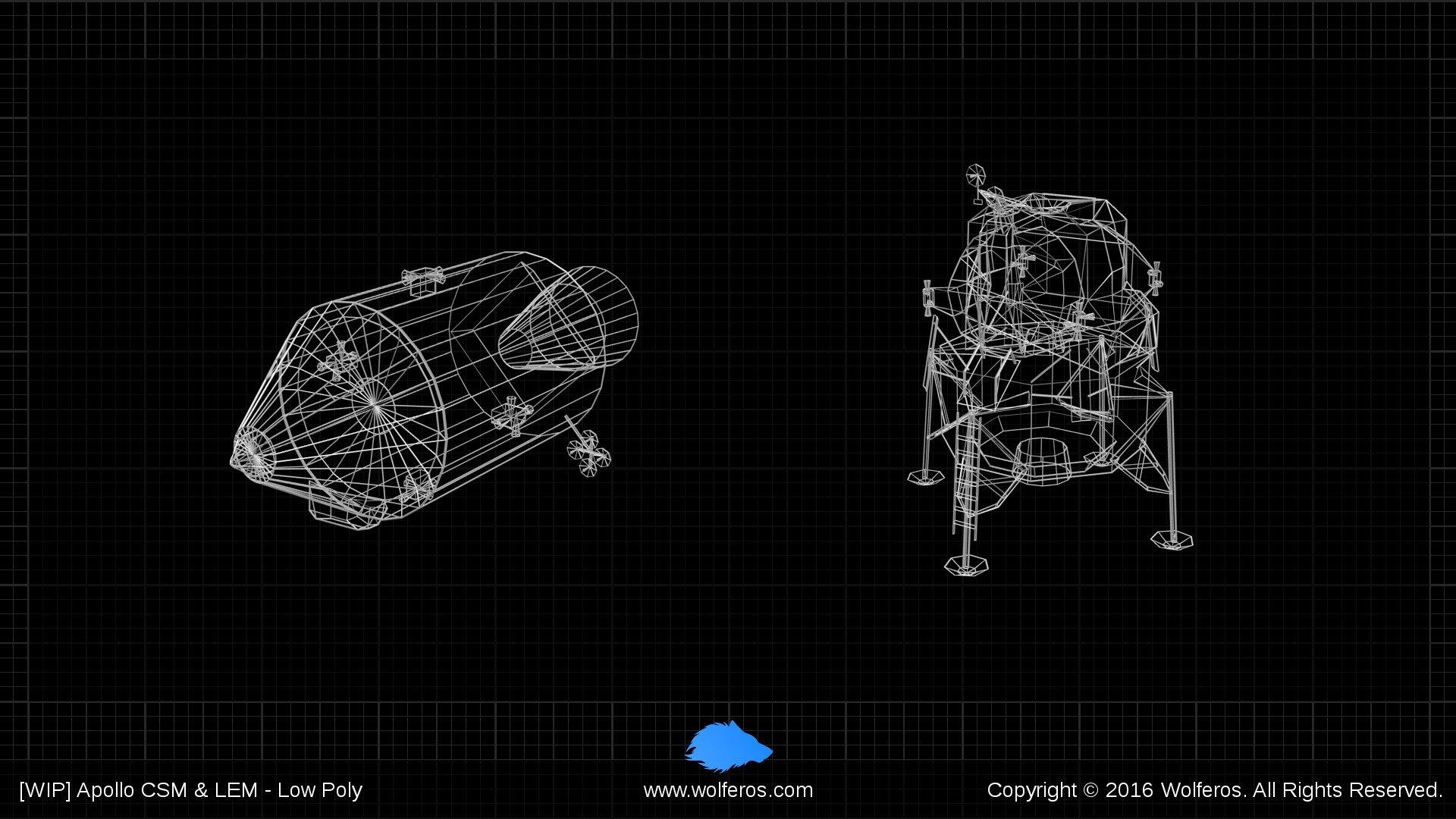 3D Apollo Models