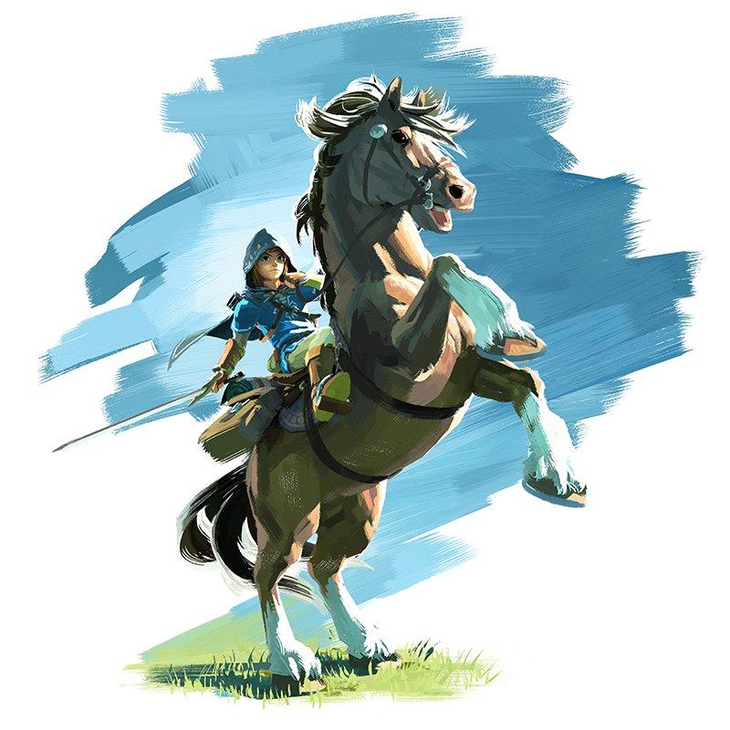Wii U Artwork Link Epona