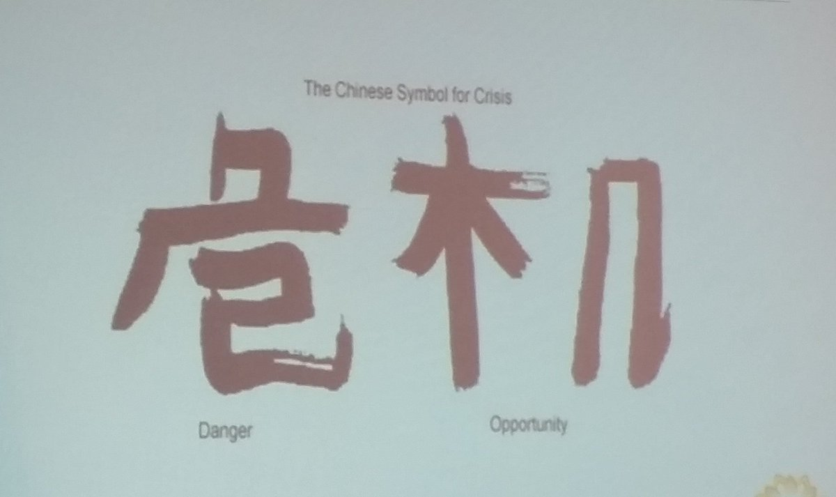 Mira Lares On Twitter The Chinese Symbol For Crisis Combines The