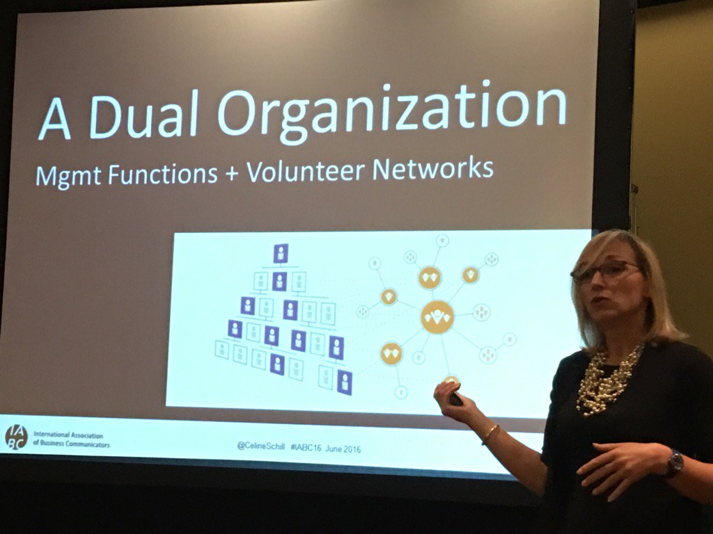 Wow another hierarchy vs network theme @CelineSchill #IABC16. It's officially an #iabcmovement https://t.co/Wfh3t2hvWm