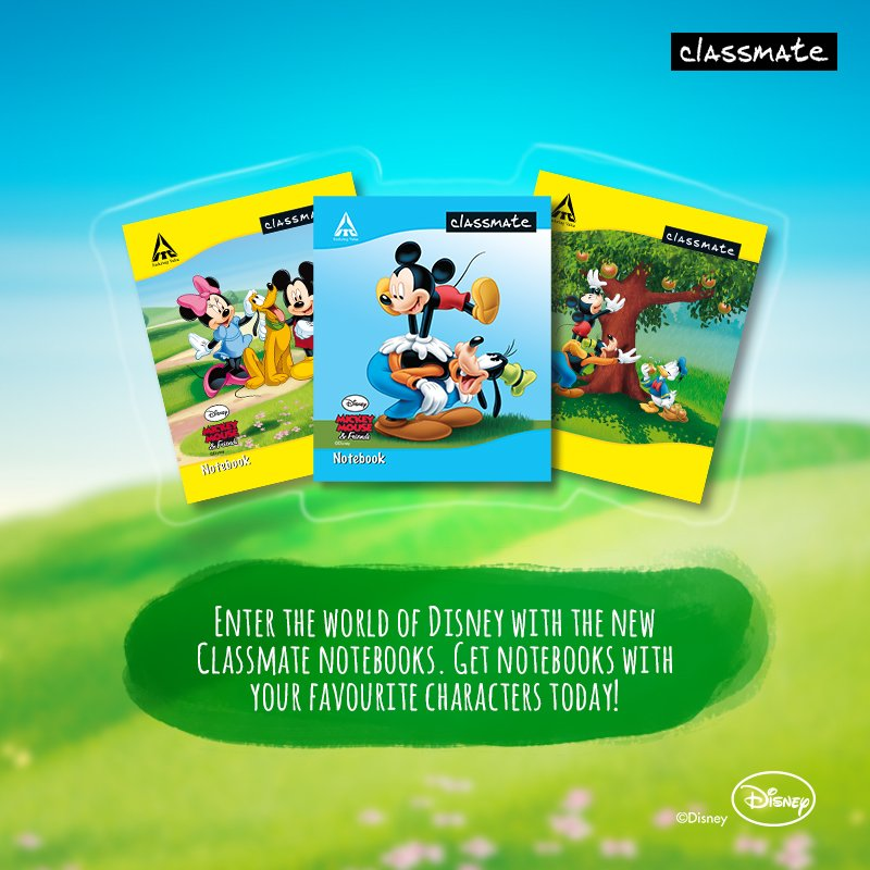classmate on classmate notebooks with disney covers
