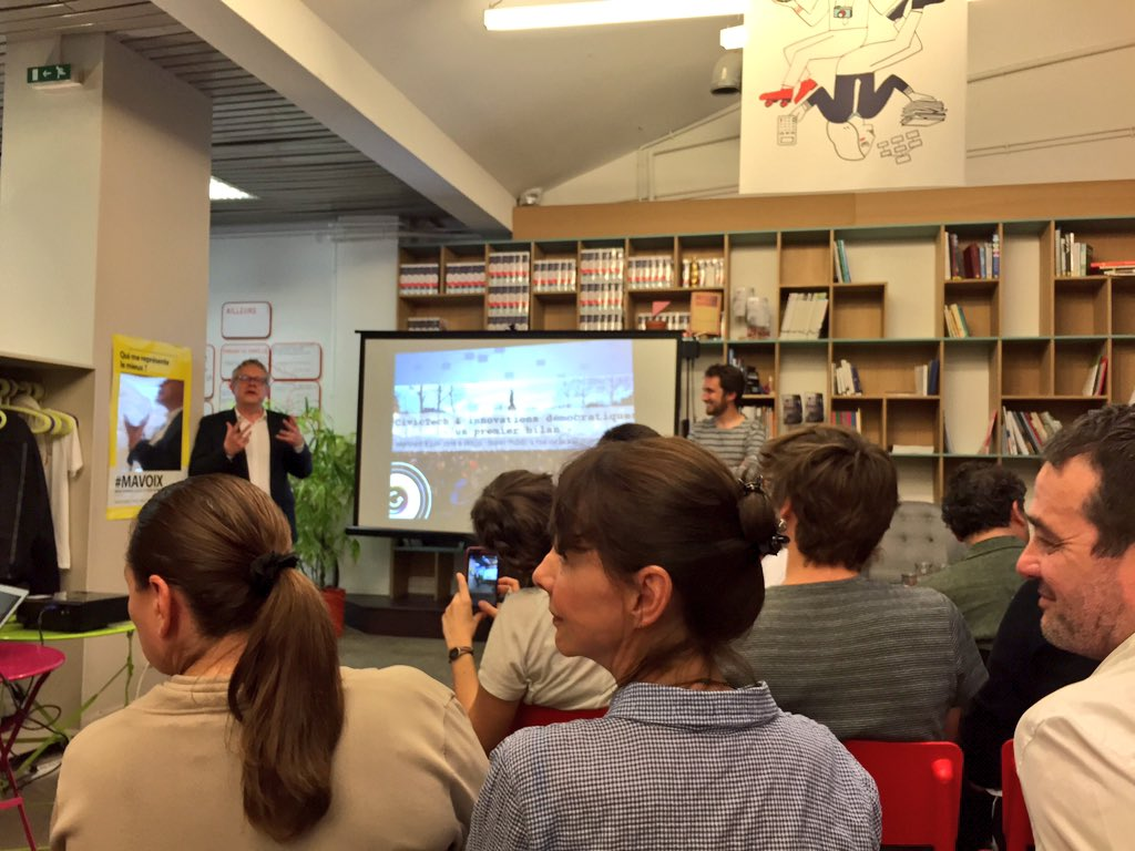 "Ce soir meetup ""CivicTech et innovations démocratiques : un premier bilan"" à @La27eregion #civictech https://t.co/AkiV4wUcDU"