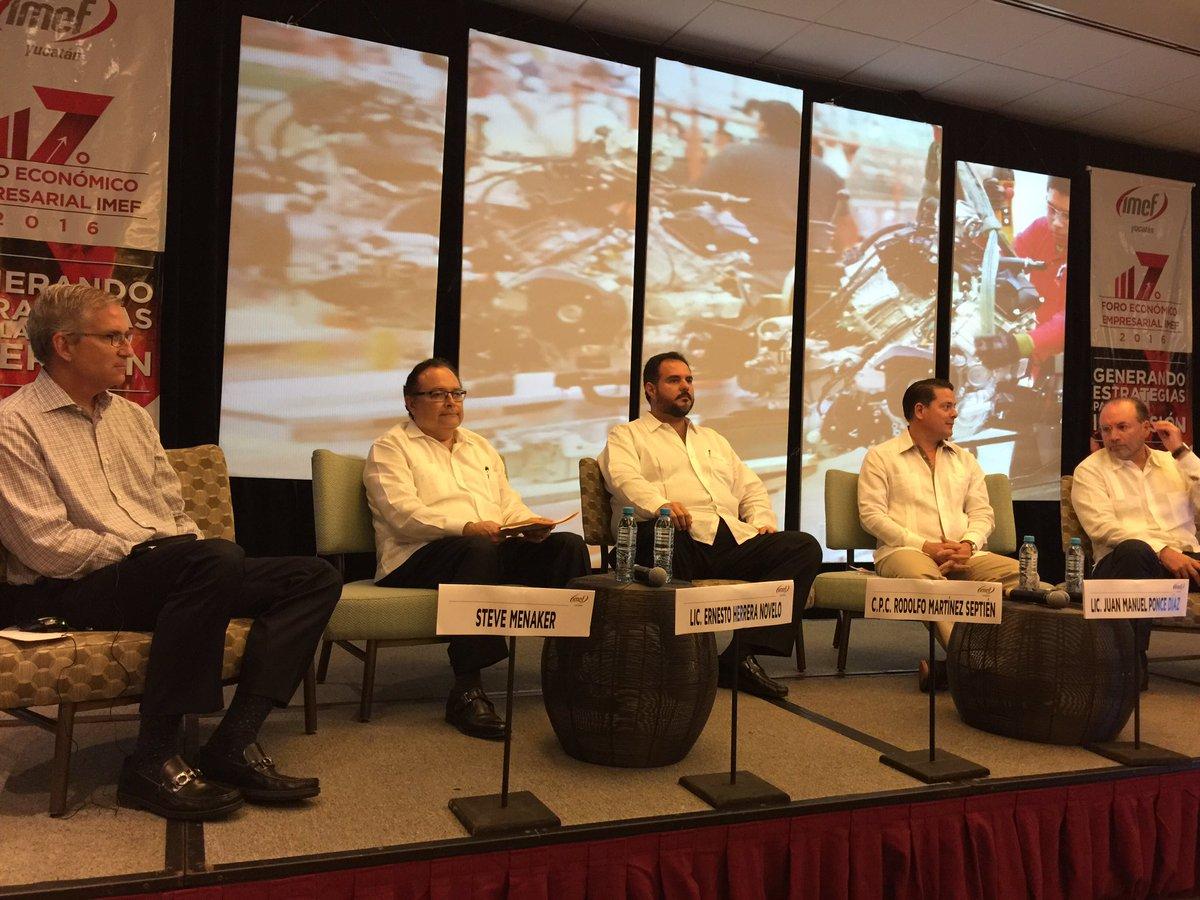 De altísimo nivel el panel sobre Desarrollo Industrial del #ForoIMEFYucatan @SEFOEYucatan @RSMUSLLP @IMEFOficial https://t.co/c70SaAUt8g