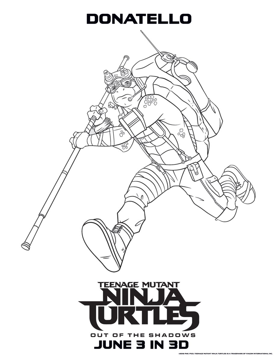 Donatello Ninja Turtle Coloring Pages TMNT Fan 86 on Twitter...