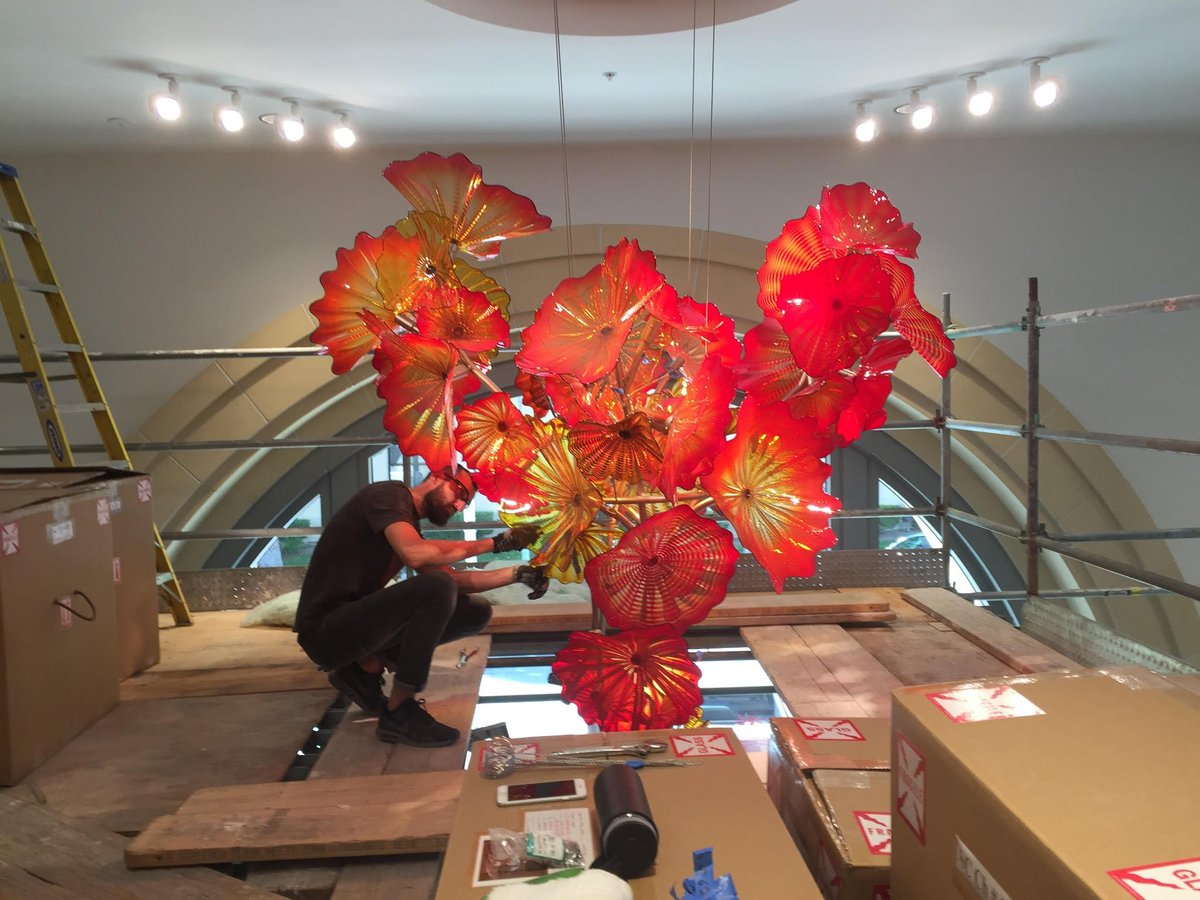 Santa clara univ on twitter check out the chihuly chandelier santa clara univ on twitter check out the chihuly chandelier currently being installed in scus new edward m dowd art art history building arubaitofo Images