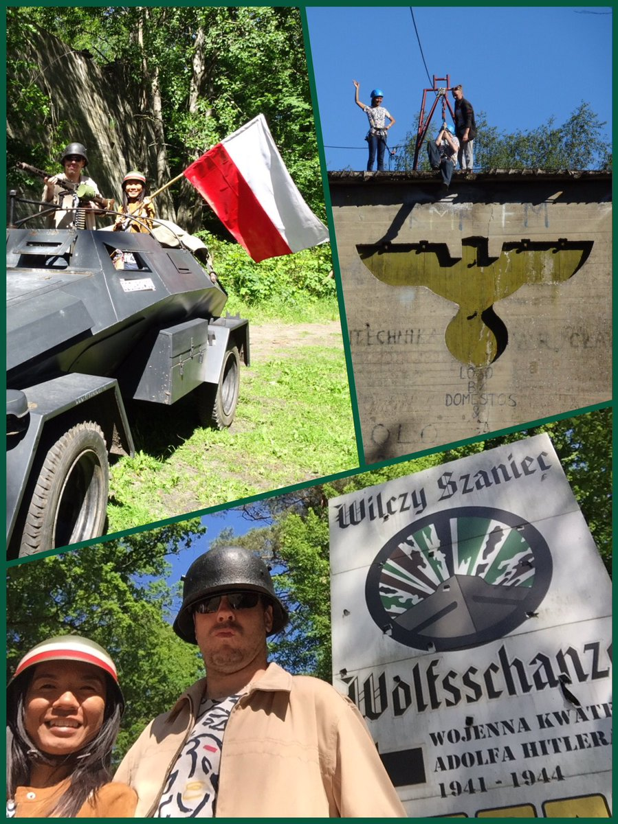 Adventure in Warsaw, Poland at Hitler's WW II base (wolf's lair) ziplines, tank driving & nazi bunker tour #Valkyrie https://t.co/WLeL7LwZVH