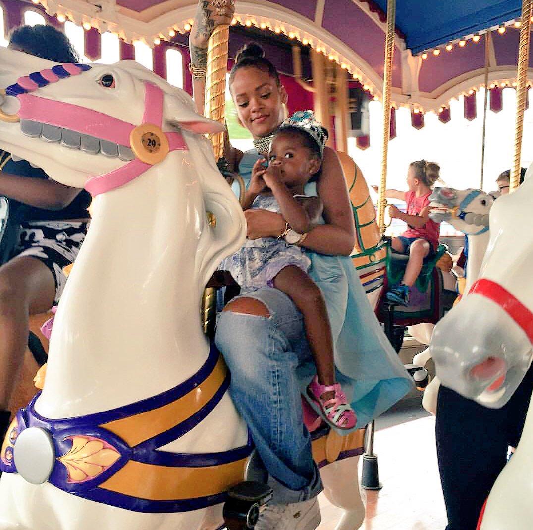 Rihanna Went to Disney World and Dressed Like a Modern-Day Cinderella