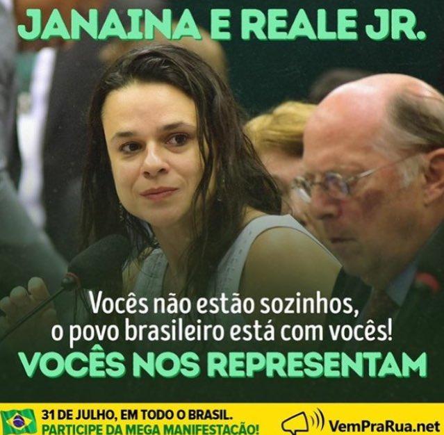 Vcs representar os brasileiros de bem! Pela justiça, pelo fim da corrupção e pelo bem do Brasil, #31deJulhoEuVou https://t.co/ewBuCsXoyB