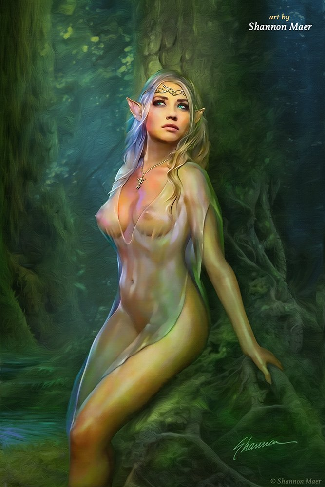 Was and Nude elf fantasy art are mistaken