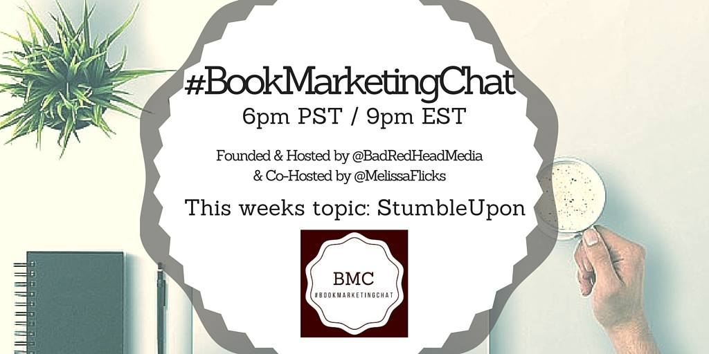 NOW: Join @BadRedheadMedia, @MelissaFlicks #BookMarketingChat 6pmPST! @StumbleUpon + #giveaway, too! https://t.co/ySQjrAnKnr