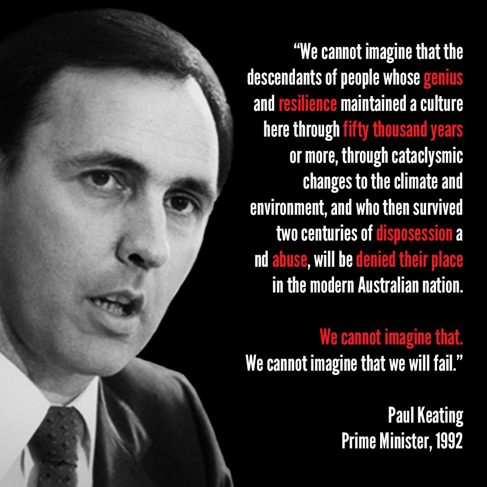 23 years on from Paul Keating's historic Redfern address, Aboriginal leaders unite in calls for action #auspol https://t.co/6mdx9QdkL6