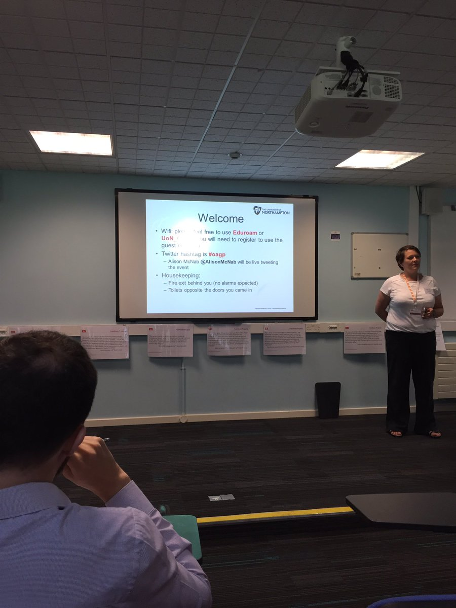 Jisc Open Access Adcovacy Workshop just started at University of Northamton #oagp https://t.co/ISiuA3a3Ip