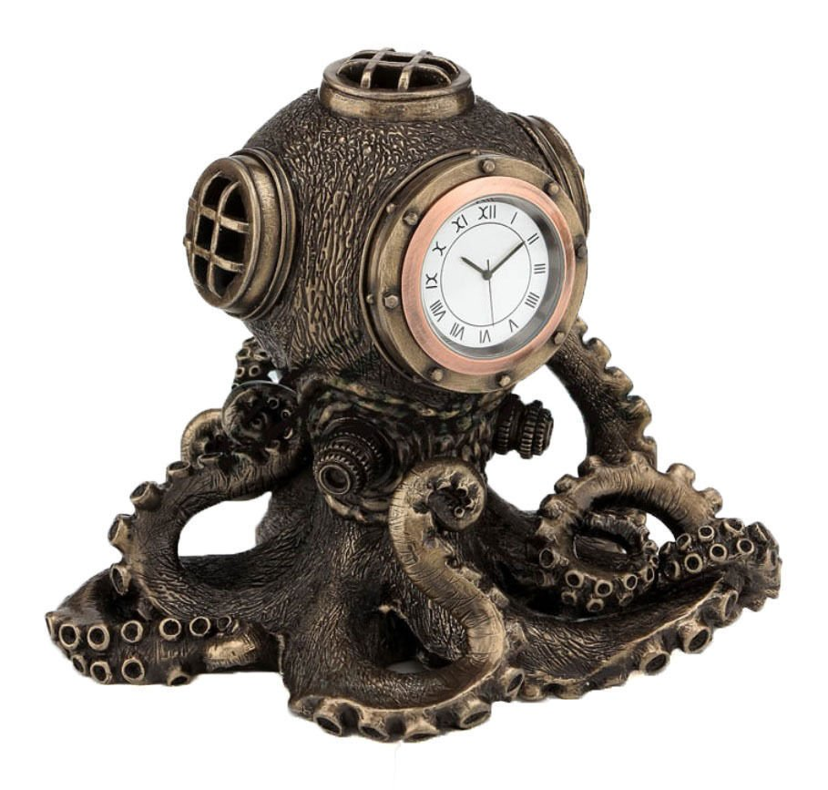#Steampunk Awesome of the Day: Bronze and Copper #Octopus Diving Bell #Clock via @carolineanngoth #SamaCuriosities