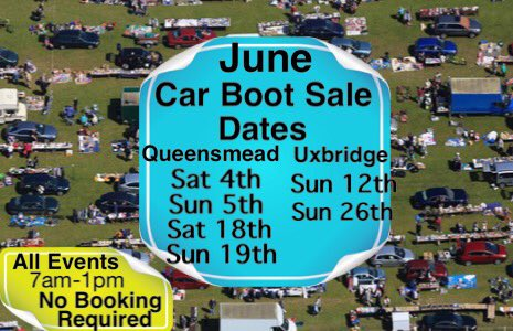 Calvers Car Boot Sales On Twitter Remaining June Car Boot Sale