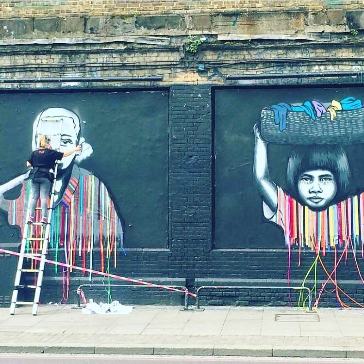 Say no to #childlabor in the fashion industry w @ChildLaborFree #allworknoplay on the streets of London #streetart https://t.co/YPgbo3ezd8