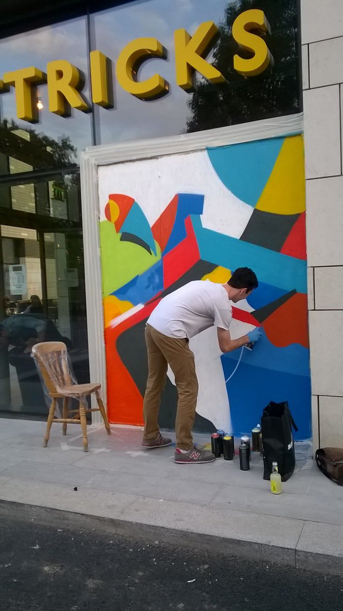 MA student Will Whittington has installed his artwork in place of a broken window at @MettricksGH #Southampton https://t.co/p4JuMGmaUr