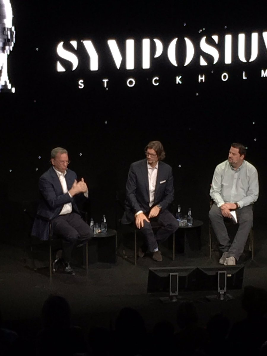 @nzennstrom & @ericschmidt at @SymposiumSthlm talking about innovation and startup life in Europe