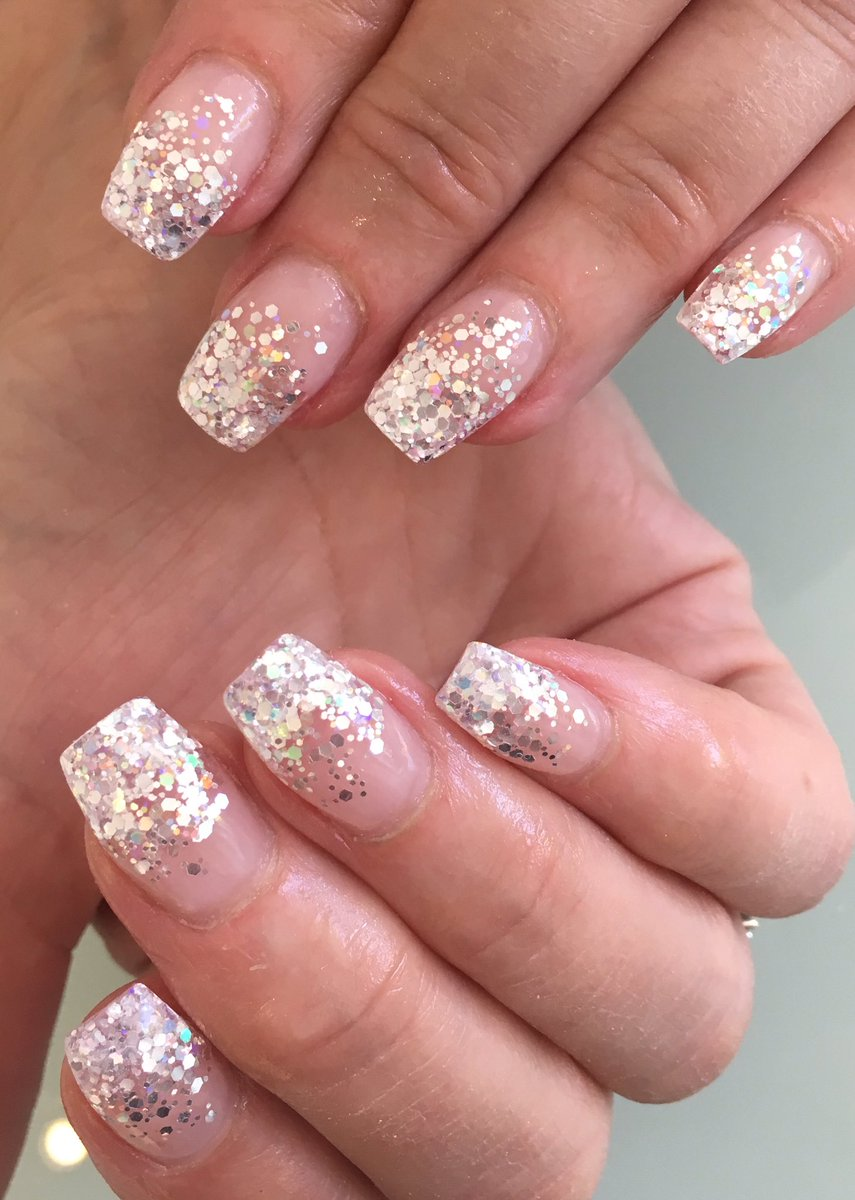 Dorable Glitter Fade Acrylic Nails Illustration - Nail Polish Ideas ...