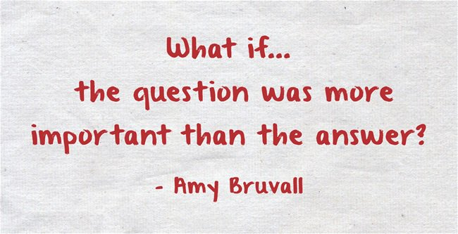 """""""#WhatIf the question was more important than the answer?"""" - @amyburvall #R2SCMS16 #EdChat https://t.co/Y5DXl2EcBh"""