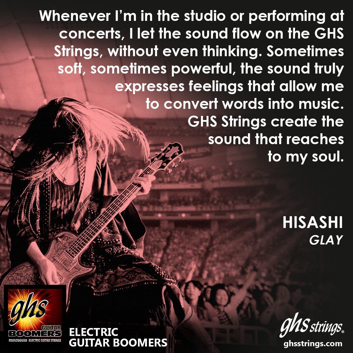 Here's the newest addition to #GHSArtistQuotes - @HISASHI_! @GHSstrings #GHS #GHSstrings @glay_official #GLAY #rock https://t.co/r0WgKprj7U