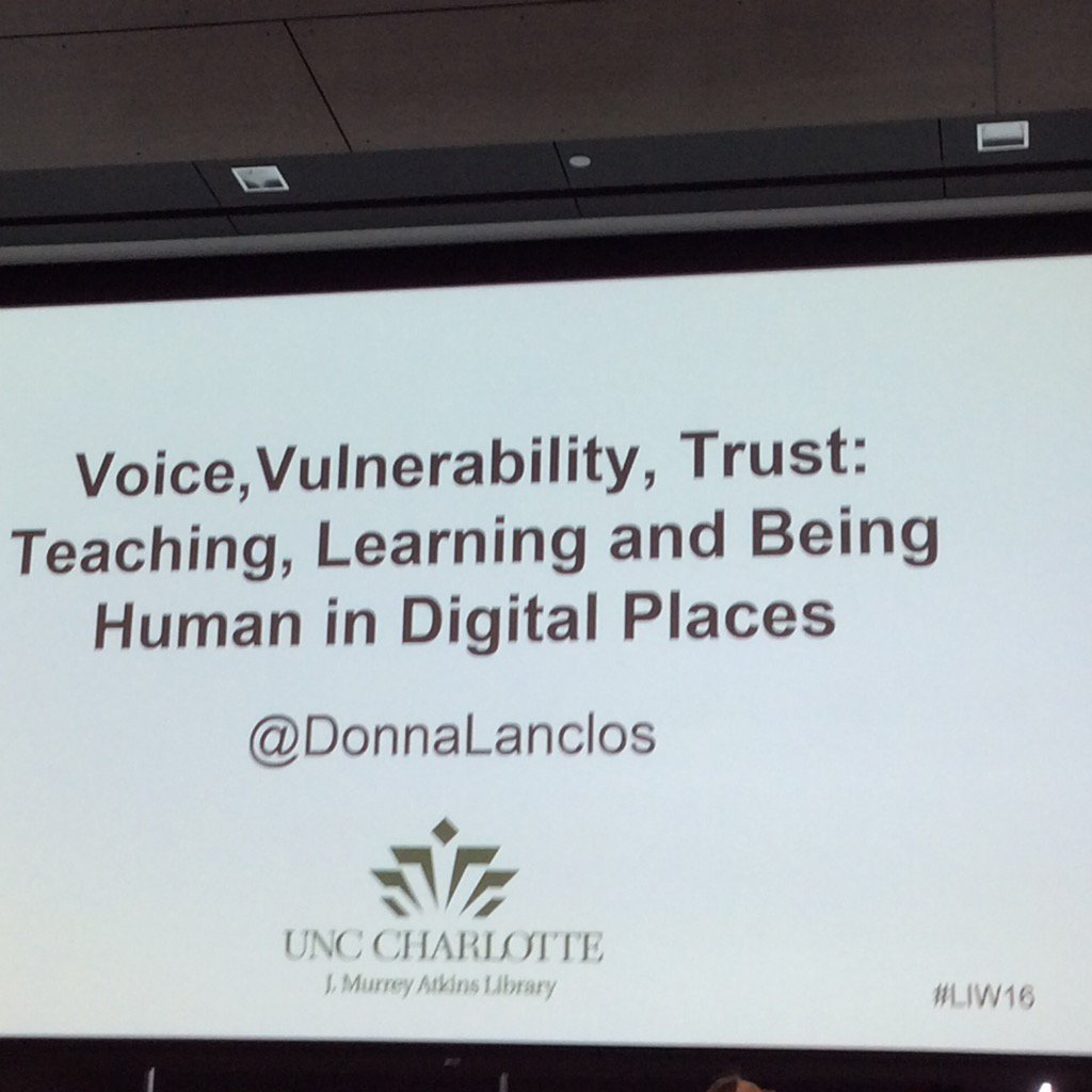 #liw16 @DonnaLanclos keynote- great way to start the day! https://t.co/WxdEmzJ68v