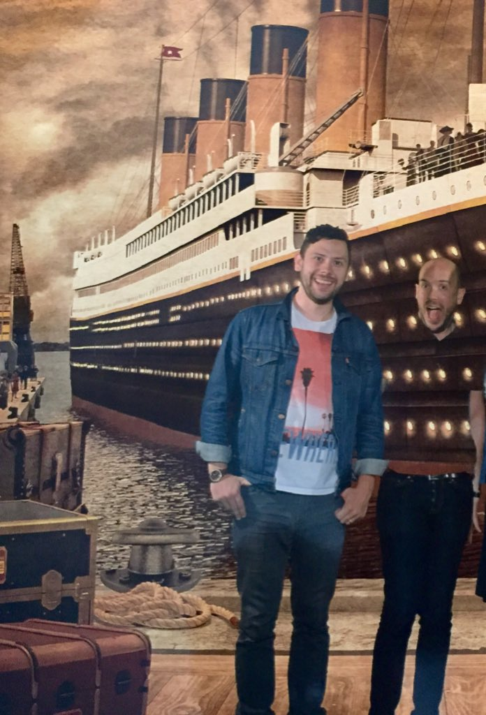 Just visited Titanic Belfast. Turns out I really shouldn't have worn a green t-shirt for a green-screen photo: https://t.co/sXOu6uWdhj
