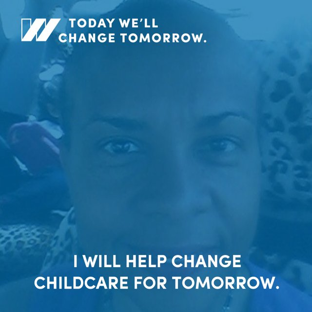 #Childcare wrkr Melinda is working to change tomorrow by investing in #ChildCareForAll & #FightFor15  #StateOfWomen https://t.co/fPGMUJ3PPx