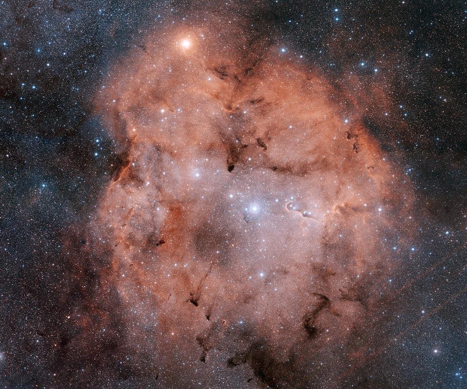 Space Stunning Emission Nebula Ic1396 Mixes Glowing Cosmic