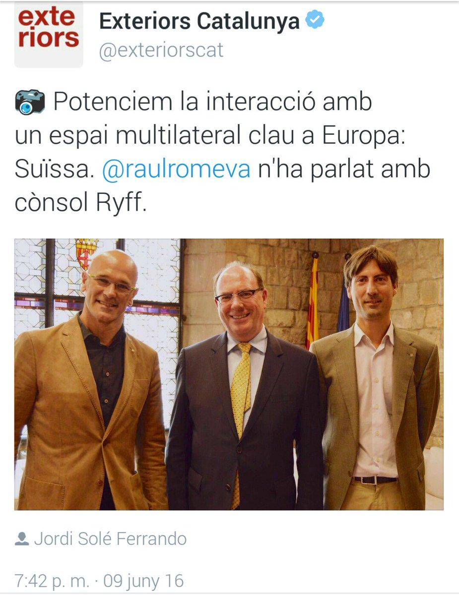 @raulromeva ha parlat amb el cònsol Ryff de Suïssa