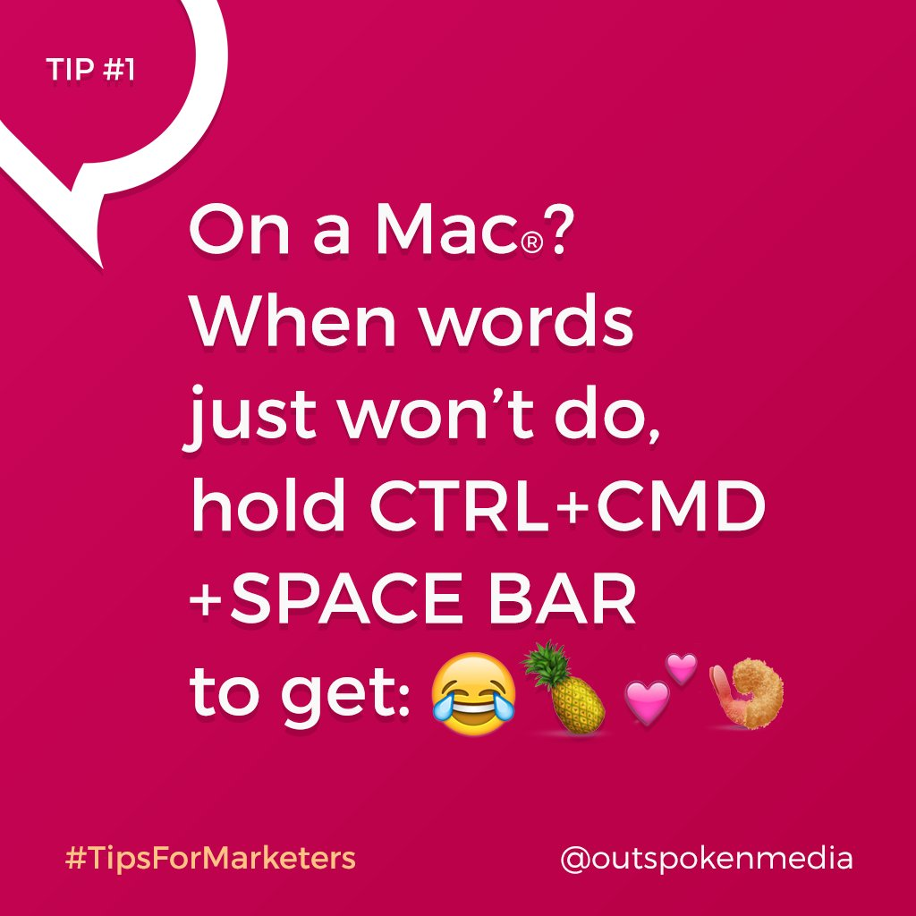 How do you use emoji on a Mac®? Follow us & #tipsformarketers to add fun tricks to your #marketing tool belt! https://t.co/tcyYaYhPk1