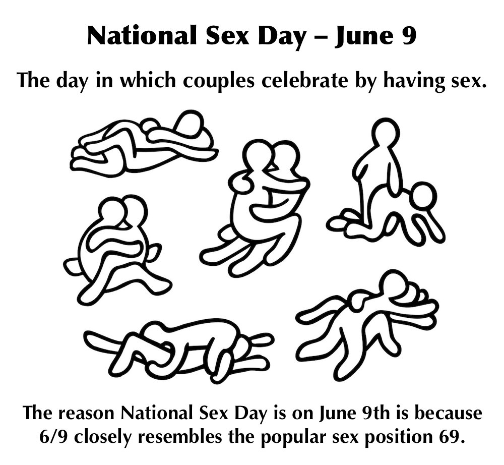 National sex day is june 9th