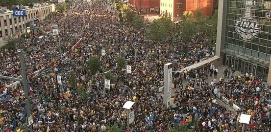 I've been to several finals but I've never seen a city as energized for a game like Pittsburgh tonight. Well done!! https://t.co/TDO7uHnZ1f