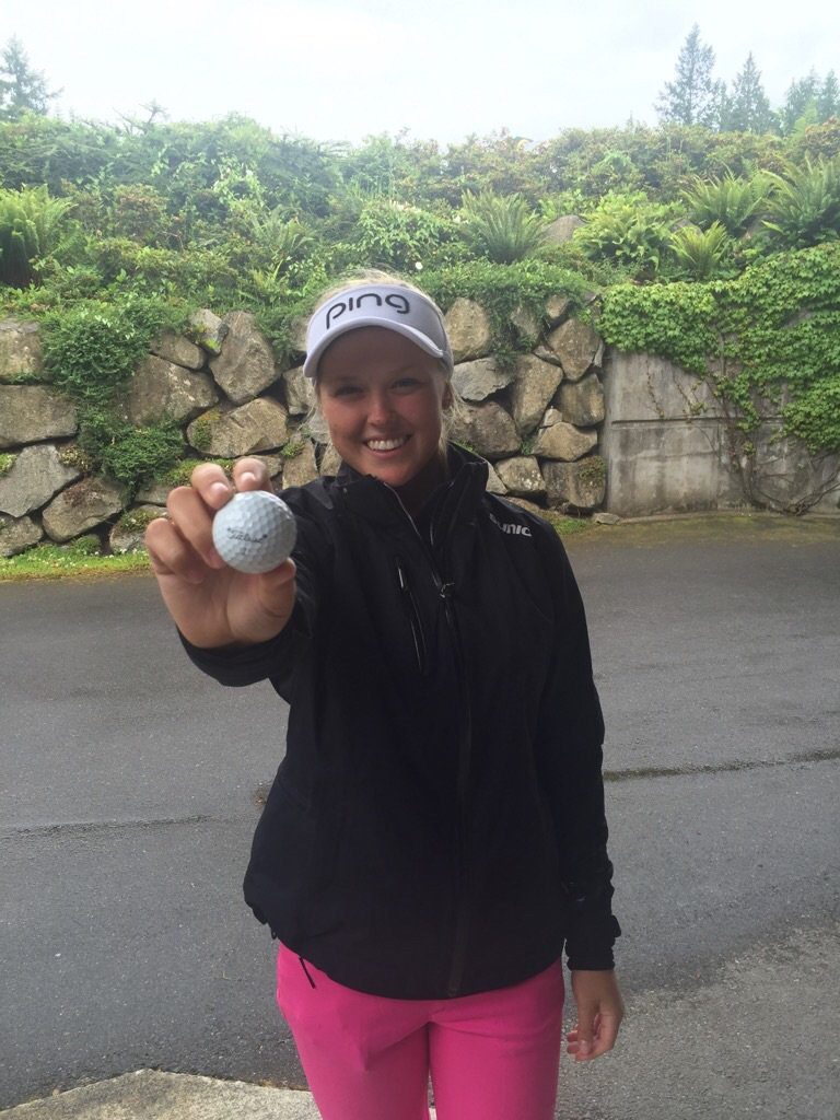 Congrats @Titleist ProV1 loyalist @BrookeHenderson on hole in one today! Tis how ya go low #leader #KPMGWomensPGA https://t.co/nGVXEO8dd3